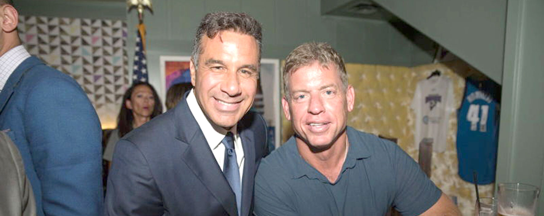 Troy Aikman and Palladino