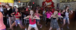 flash mob raising cane's